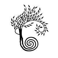 Albero con radici a spirale