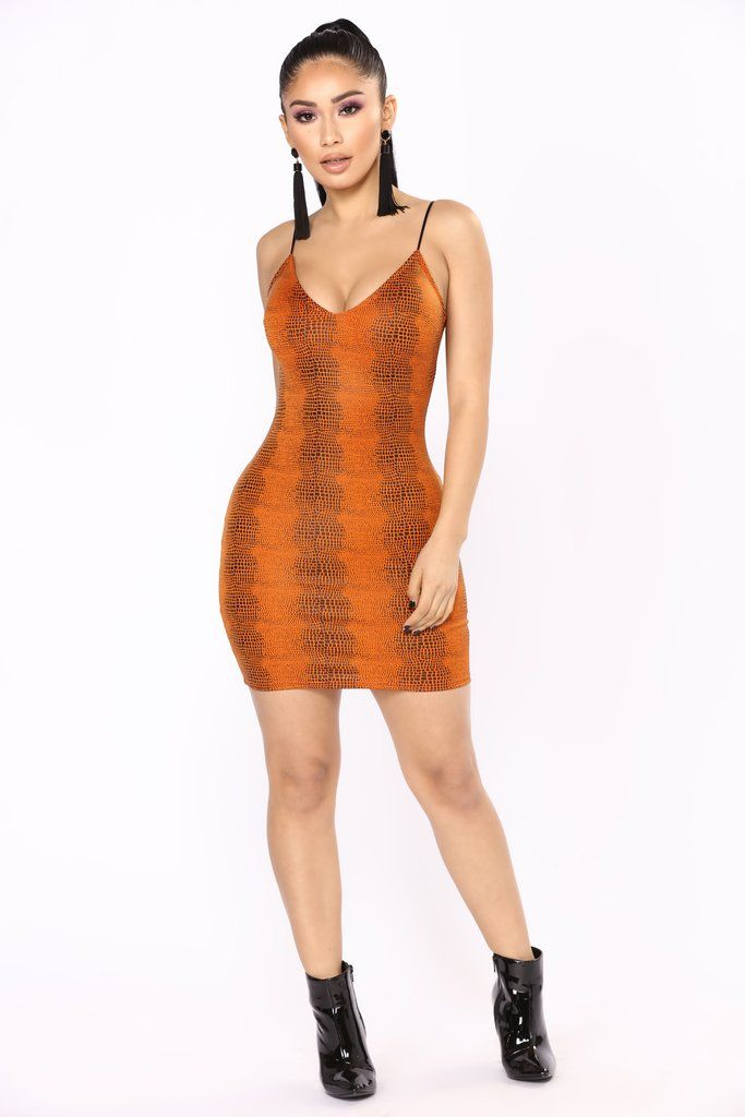 ccd724c831 Poisonous Snake Dress - Orange   Fashion Nova   Dresses   Fashion ...