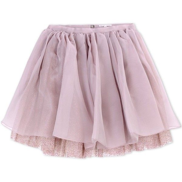 Olympia Le-Tan Knee Length Skirt ($1,695) ❤ liked on Polyvore featuring skirts, bottoms, pastel pink, pink pleated skirt, glitter skirt, knee high skirts, pastel skirt and purple pleated skirt