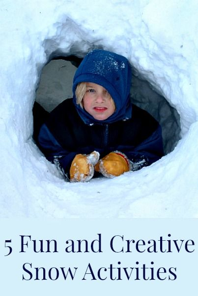 5 creative and fun snow activities you can do with your children this winter. As winter drags on, it is nice to have some new snow activities to try.