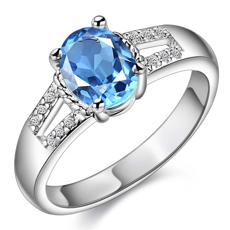 New Hot high quality silver plated jewelry fashion elegant women simple sparkling crystal CZ Ring Free shipping #Affiliate