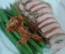 Thermomix Recipe Pork and Walnut Pesto Roulade with Feijoa and Parsnip Puree by wholesomewahine