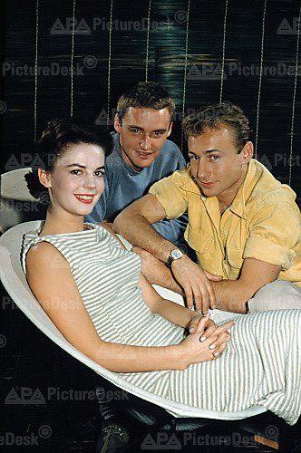 Natalie Wood with Dennis Hopper & Nick Adams c.1955