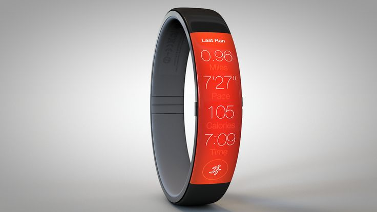 iWatch concept imagined in anticipation by Todd Hamilton • depicted: Running App