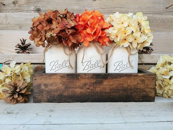 1000 ideas about fall table centerpieces on pinterest for Country kitchen table centerpiece ideas