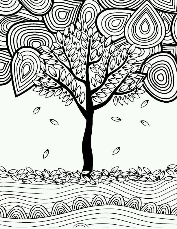 leaf coloring pages for adults - photo#28