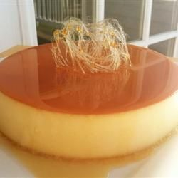 Baked Flan Allrecipes.com my brother and I made this yesterday 7/06/2014 and it was DELICIOUS and EASY