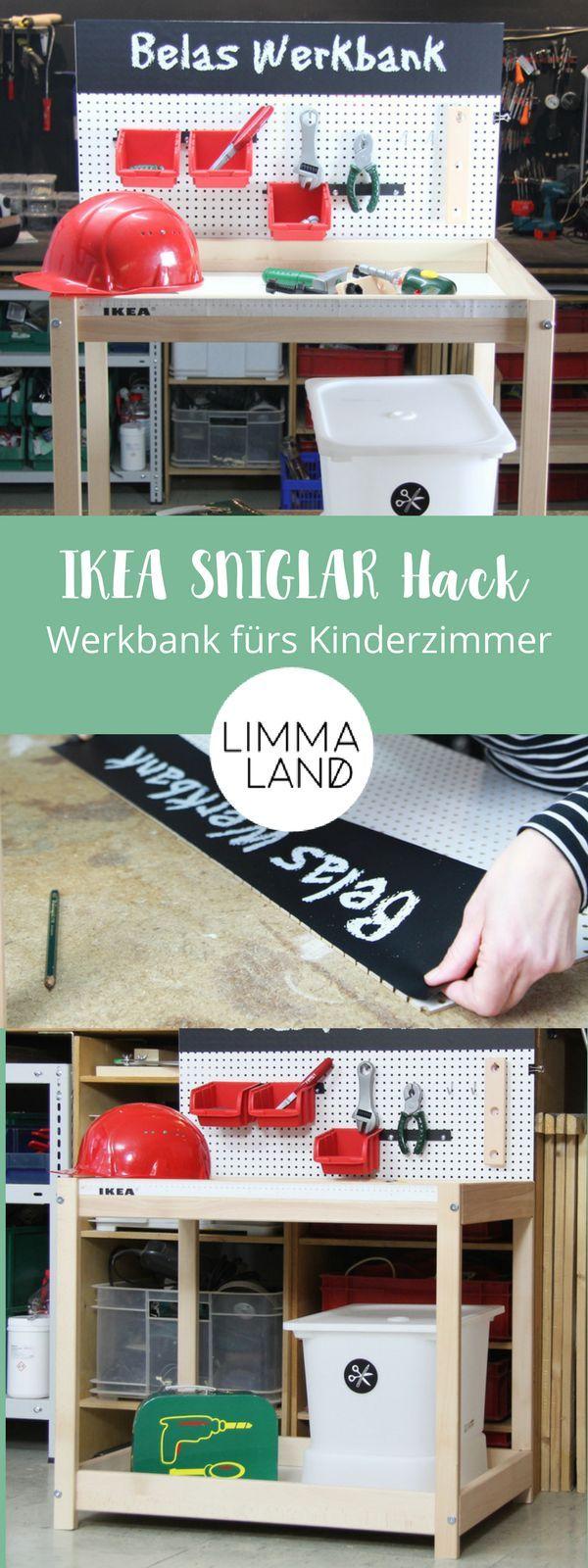 IKEA SNIGLAR Hack – aus Wickeltisch wird Kinder Werkbank