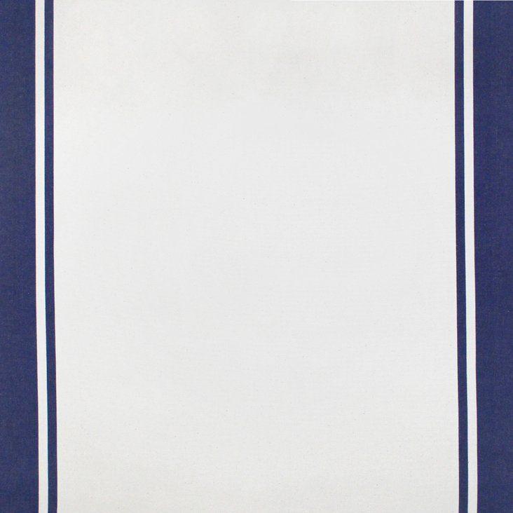 Indigo/Natural Stripe Canvas