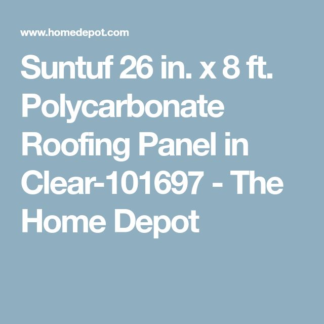 how to install suntuf clear polycarbonate roofing panel