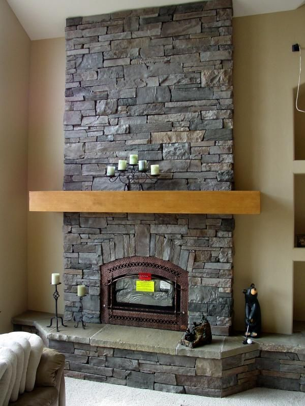 Terrific Pictures Small Stone Fireplace Suggestions Stacked Stone