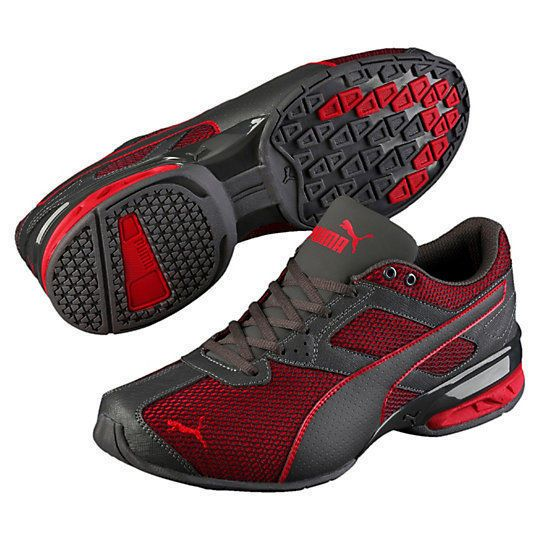 New PUMA Tazon 6 Mesh Mens Running Shoes asphalt high risk red