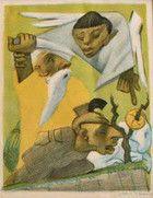 The Sacrifice of Isaac (Plate X) Jean Charlot Lithograph 21 x 16 cm.