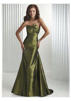 taffetas corsage sans bretelles avec Slim Line jupe 2012 robes de bal de longues