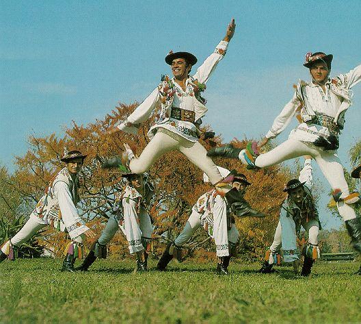 Ancient traditional folk dance ''Calusul'' , Romania