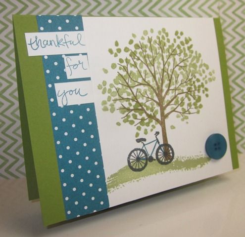 Stampin' Up!,Sheltering Tree,thanks card,DIY,hand made,home made,paper crafts