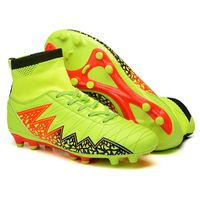 New Adults Men's Youth Outdoor Firm Ground Soccer Cleats Shoes High-top FG Football Boots Training Sports Sneakers Shoes