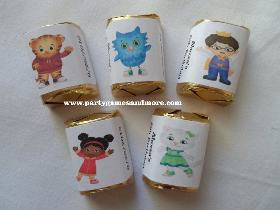 Daniel Tiger's Neighborhood Birthday Party Favor hershey's nugget labels, candy wrappers, bubble labels, candy labels