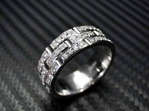 14K White Gold Mens Diamond Wedding Band by Jewelry King ...