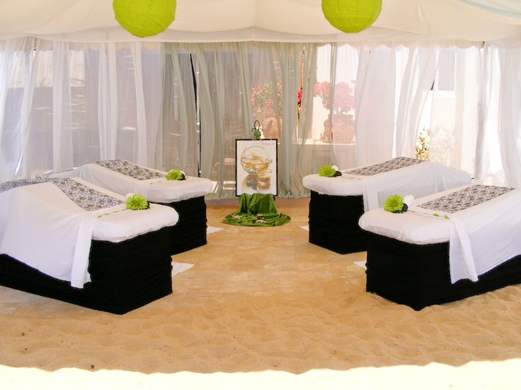 Massage party on the beach in Cabo #event #massage #mobilespa #Cabo