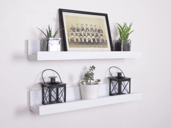 White Picture Ledge Free Shipping White Ledge Shelf Etsy Picture Ledge Ledge Shelf Floating Shelves