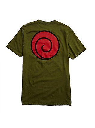 Naruto Shippuden Uzumaki Clan Logo T-Shirt, GREEN