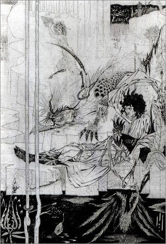 König Artus und die bellende Bestie  - Aubrey Beardsley