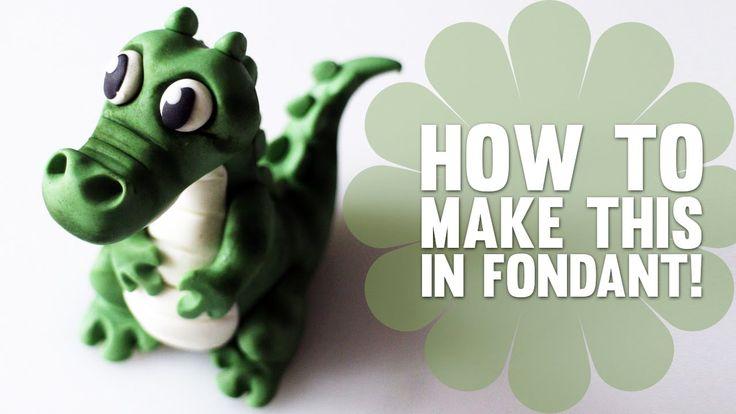Super Speed Video - How to make a cute Crocodile Cake topper