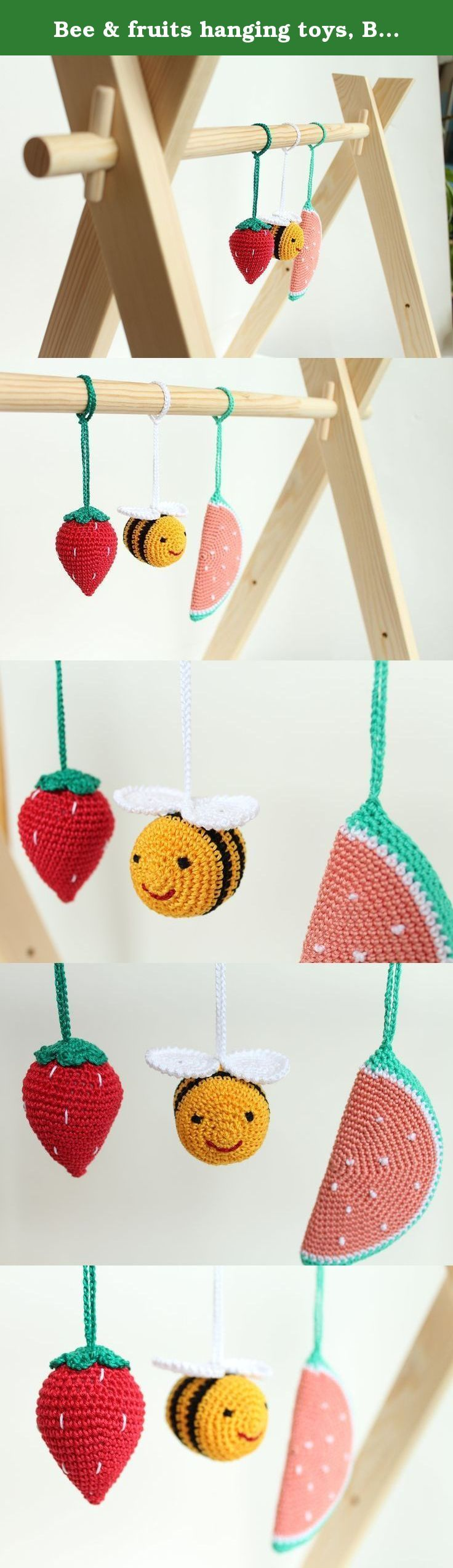 Best crib toys your baby - Bee Fruits Hanging Toys Baby Play Gym Toy Crib Toy Baby Rattle