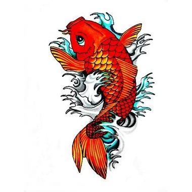 Tatuagem carpa laranja