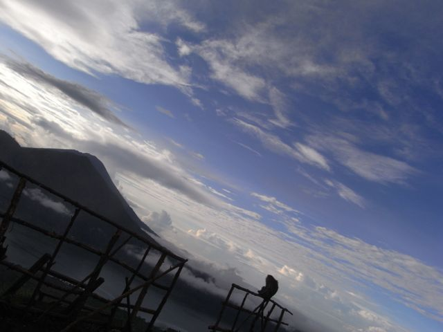 A monkey's view of Mt Agung from Mt Batur Bali.
