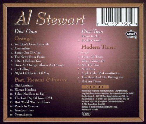 Orange: Past & Present & Modern Times Pl   Orange: Past & Present & Modern Times Pl UK two disc compilation includes three albums, 'Orange' (1972), 'Past, Present & Future' (1973), & 'Modern Times' (1975), plus one bonus track, 'Swallow Wind'. 25 tracks. Edsel. 2004.  http://www.musicdownloadsstore.com/orange-past-present-modern-times-pl/