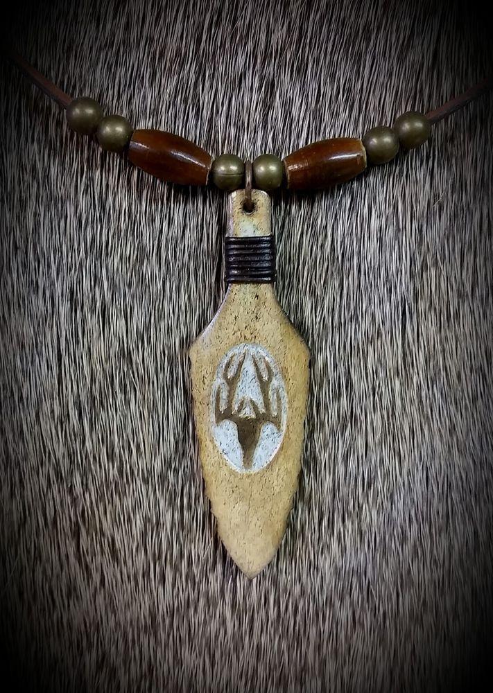 BEAUTIFUL DEER ANTLER  ARROWHEAD SPEARHEAD PENDANT NECKLACE SHEDS ANTLERS ELK #Handmade #Pendant