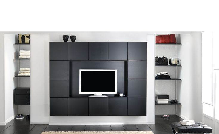 meuble home cin ma tv dallas solution multifonction un meuble tv habill de blocs. Black Bedroom Furniture Sets. Home Design Ideas