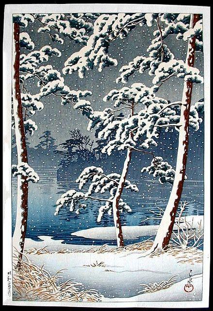 'Senzoku Pond' - Hasui Kawase