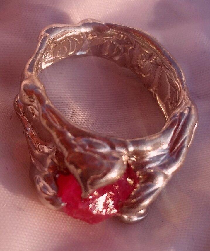 Ruby in silver!!! By tilltil www.sierraadsels.nl