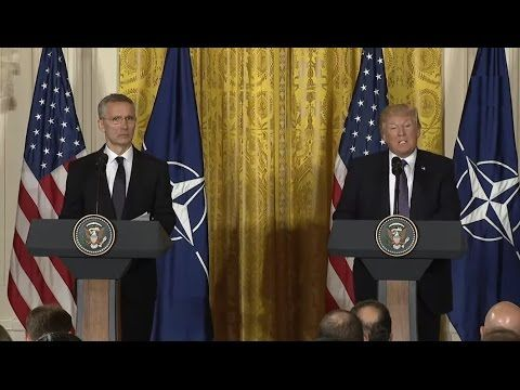 4/12/2017/ LIVE: President Donald Trump Press Conference with NATO Secretary General Jens Stoltenberg