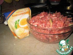 """Салат из белокочанной капусты и мяса """"Не верю"""""""