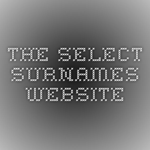 the select surnames website