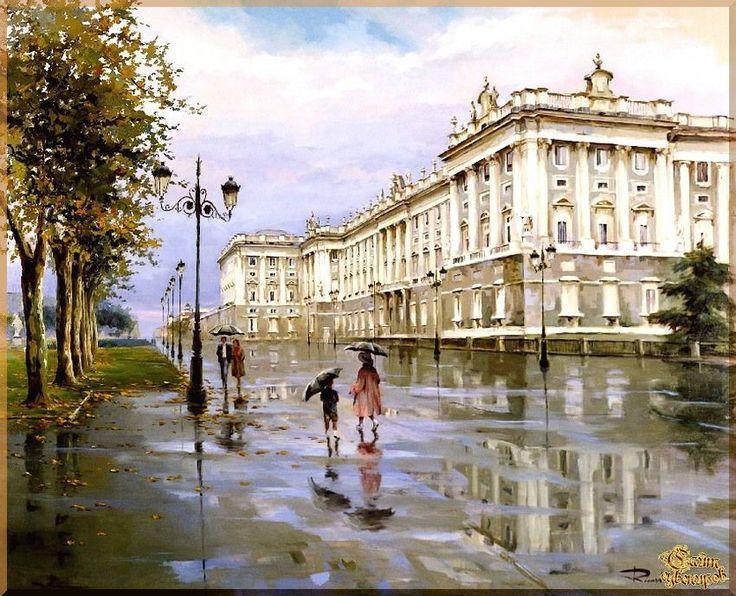 City - 282 Городской пейзах, картины, подарки