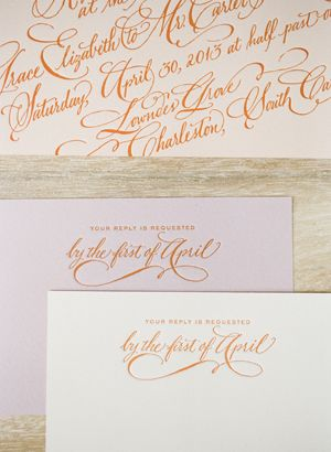 letterpress calligraphy invitation suite | Eric Kelley #wedding