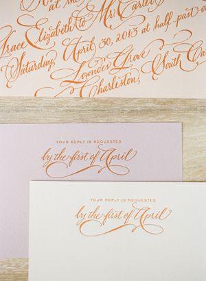 letterpress calligraphy invitation suite | Eric Kelley #wedding