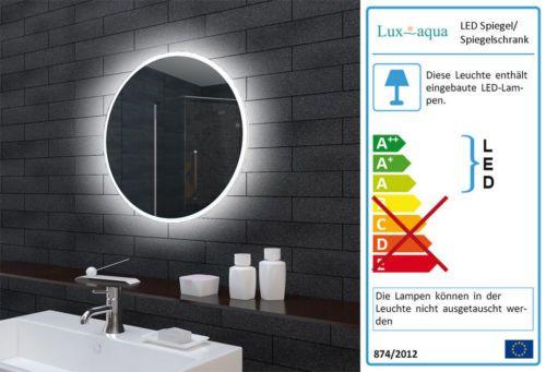 Wand-Bad-Licht-Badezimmer-Spiegel-mit-lichtleitendem-Acryl-Rahmen-60cm-rund
