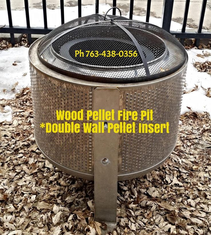 Efficient Fabricated Fire Pit Chamber Using A Recycled Washer Drum Washing