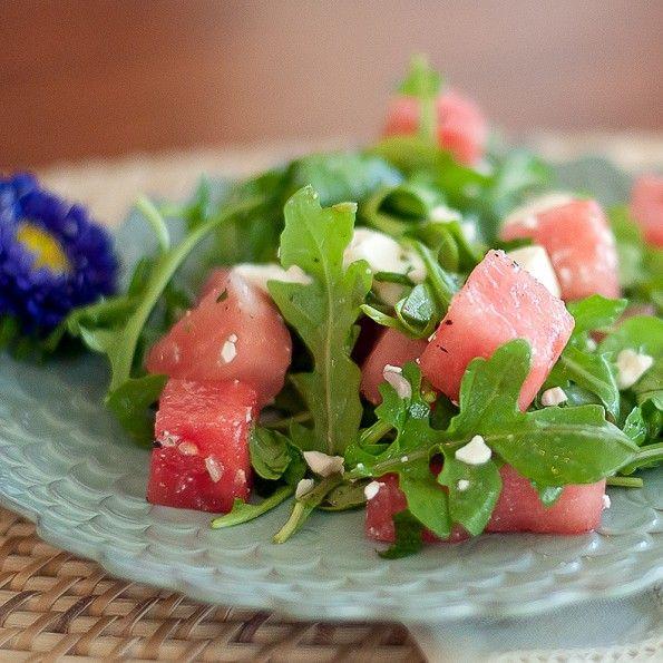 Watermelon, Arugula and Feta Salad: Feta Salad, Healthy Eating, Summer Salad, Kitchen, Soup, Arugula Watermelon, Garten S Arugula