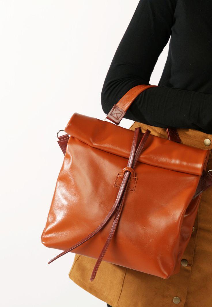 Handmade Leather Bag by A-Rada / Orange Leather Bag / Leather Handbag / Women's Leather Bag