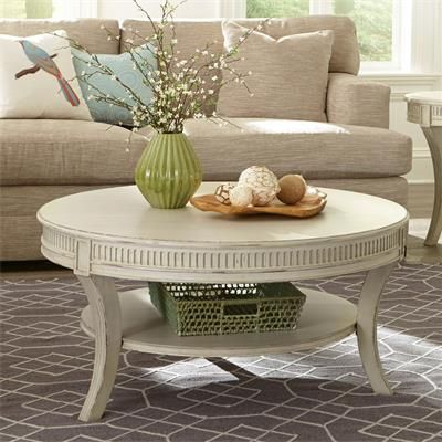 Riverside Furniture – Huntleigh Round Coffee Table