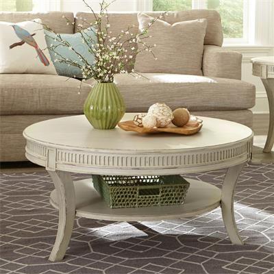 Riverside Furniture – Huntleigh Round Coffee Table