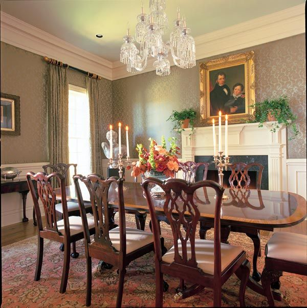 933 best images about plantation interiors on pinterest for Southern dining room
