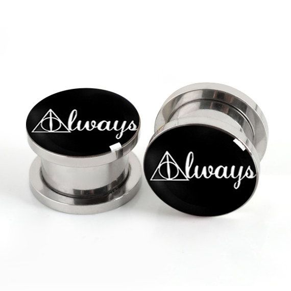 Hey, I found this really awesome Etsy listing at https://www.etsy.com/listing/189791457/pairs-harry-hp-plugs-always-flesh